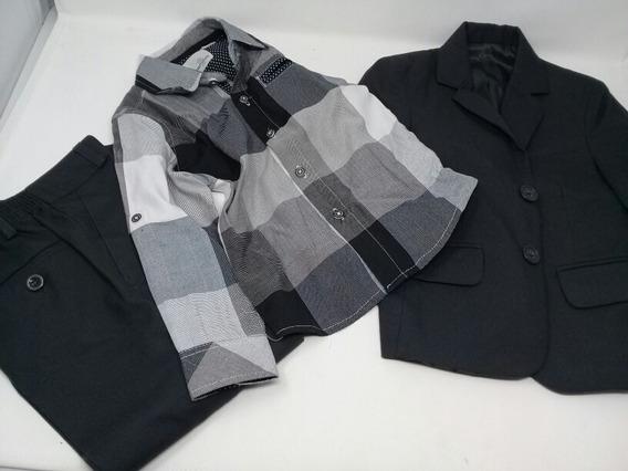 Traje Oscar Collection Y Camisa A Cuadros. La Segunda Bazar
