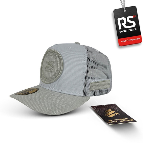 Boné Rs Performance Trucker Feminino Off White Com Brilho