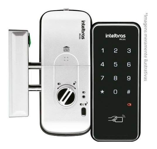Fechadura Digital C/ Senha E Cartão Fr201 Intelbras