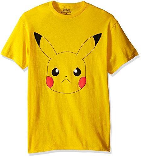 Remera Pokemon Pikachu Angry Big Face Xl Original Importada