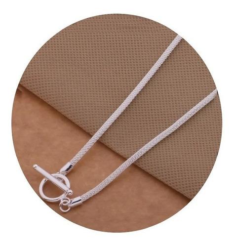 Imagen 1 de 4 de Collar Para Mujer Víbora Plata Ley .925