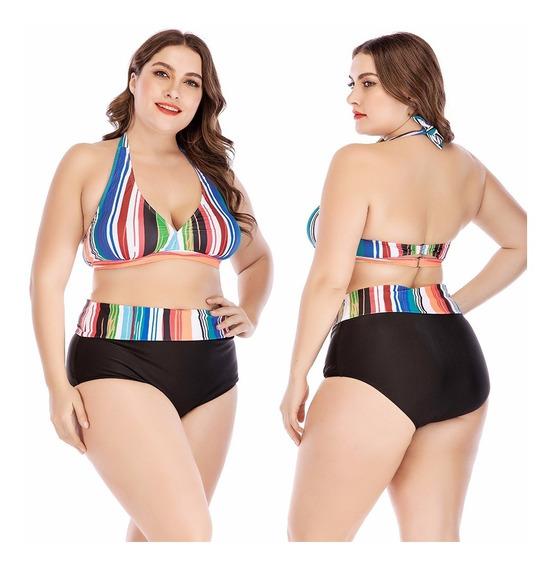 Biquíni Feminino Plus Size Lançamento Verão Estampado