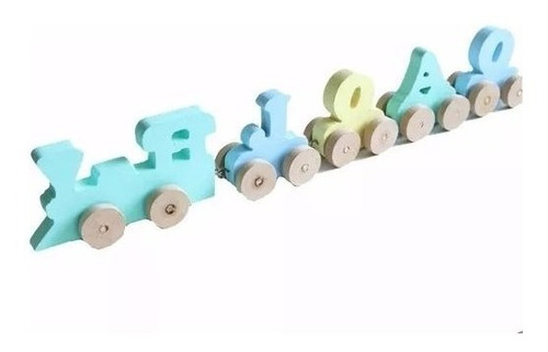 Imagem 1 de 3 de Trenzinho Com Nome Para Brincar E Decorar Quarto Crianças
