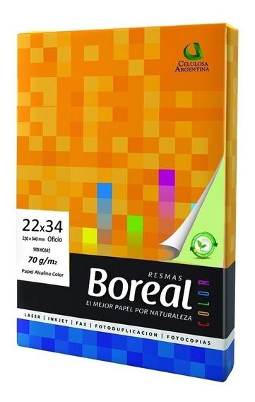 Resma Boreal 22x34 70gr Color Envio Gratis X 20uni En Caba