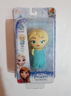 Figuras Frozen Elsa Incluye Sello Y Crayón