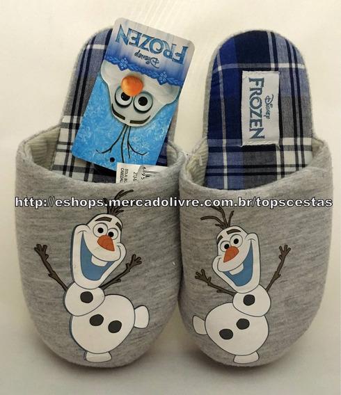 Pantufa Chinelo Infantil Olaf Frozen Disney Tamanho 29/30