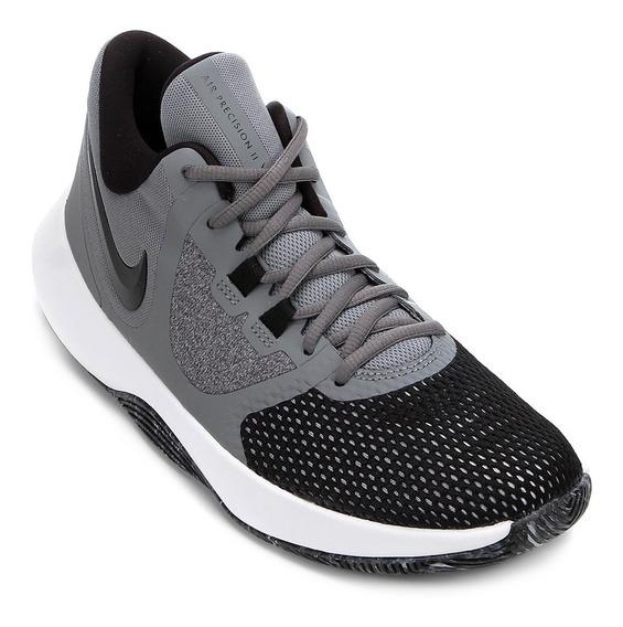 Tenis Masculino Nike Air Precision Ii Basquete - Cinza/preto