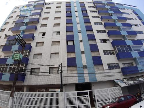 Apartamento Para Venda Em Praia Grande, Guilhermina, 2 Dormitórios, 1 Banheiro, 1 Vaga - Ap157_1-1953076