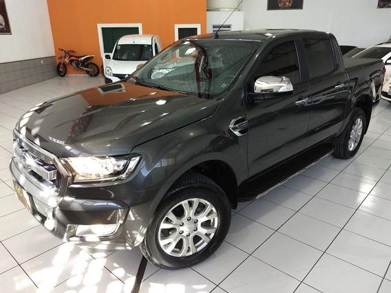 Ford Ranger Dupla Xlt 2019 Cinza 3.2 Die Top Ud 3000 Km