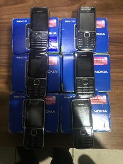 Lote 6 Nokia C2-01 Desbloqueado C/ Câmera, Original - Usado