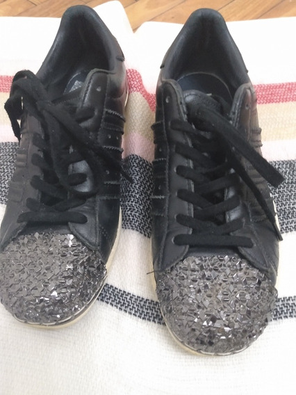 zapatillas adidas superstar blancas con brillos