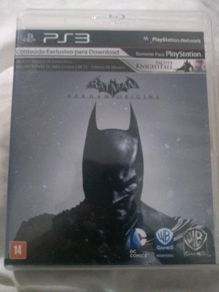 Batman Arkham Origins - Ps3 Original Em Mídia Física