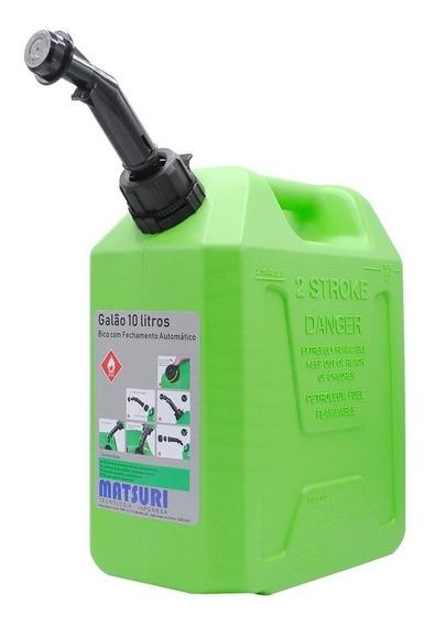 Galão De Combustível Verde 10 Litros*