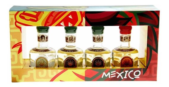 1921 Tequila 100% Agave Combo 4 Miniaturas 50ml.