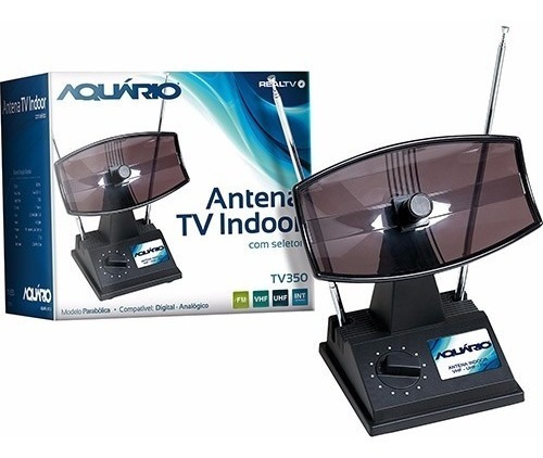 Antena Interna - 4 Em 1 - Hdtv Digital - Tv 350 - Aquario