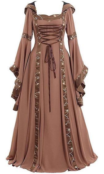 Vestido Retro Medieval Do Natal Do Dia Das Bruxas