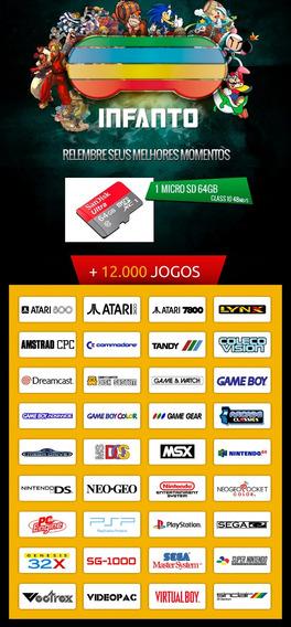 +20.000 Jogos - Cartão Micro Sd 64gb - Raspberry Pi