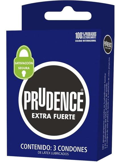 Condones Prudence Extra Fuerte 3 Piezas 3 Pack - S005