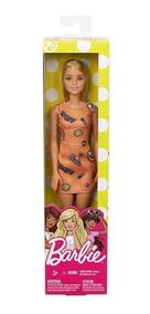 Boneca Barbie Fashion And Beauty - Vestido Laranjado
