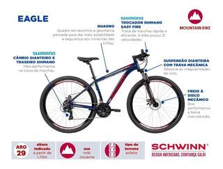 Bicicleta Schwinn Eagle Aro 29 21v Azul