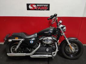 Harley Davidson Sportster Xl 1200 Custom Cb 2015 Preta Preto