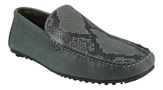 Zapato Mocasín Pitón Original Piel Exótica Para Caballero