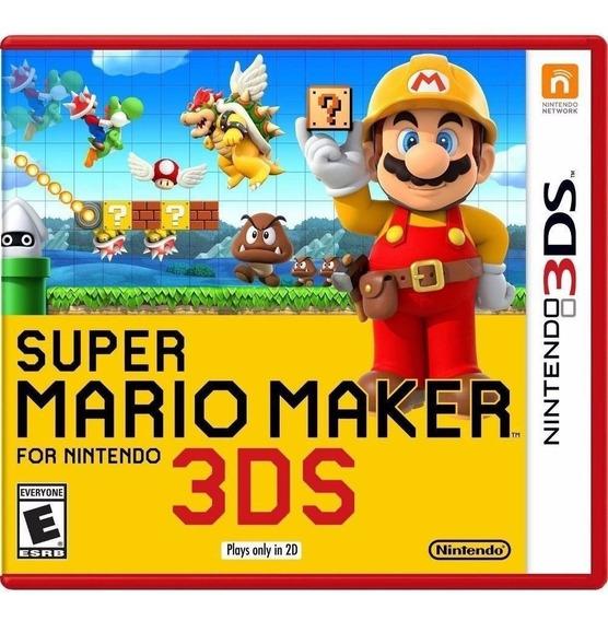 Jogo Super Mario Maker 3ds Para Nintendo 3ds Mídia Física