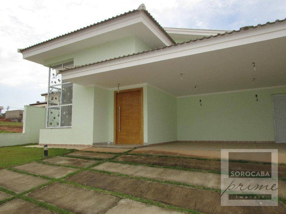 Casa Com 3 Dormitórios À Venda, 140 M² Por R$ 800.000 - Condomínio Chácara Ondina - Sorocaba/sp, Próximo Ao Shopping Granja Olga. - Ca0022