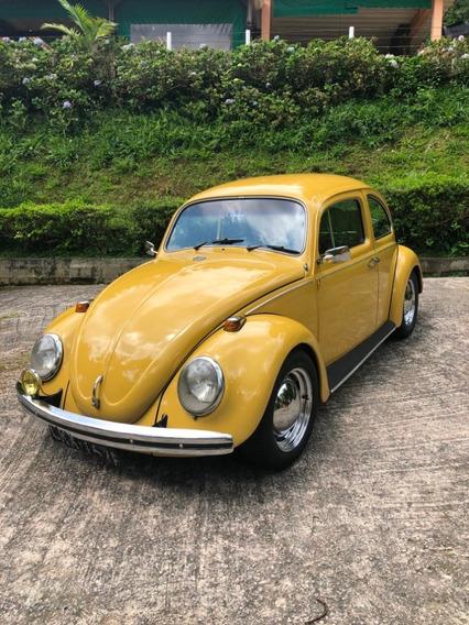Volkswagen Fusca 72 Amarelo Colonial