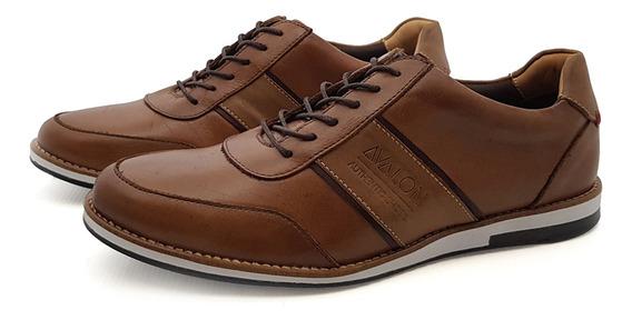 Sapato Casual Couro Avalon Atlanta Telha