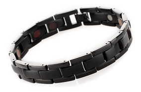 Bracelete Pulseira Titânio C/ Células Magnéticas Ecv21