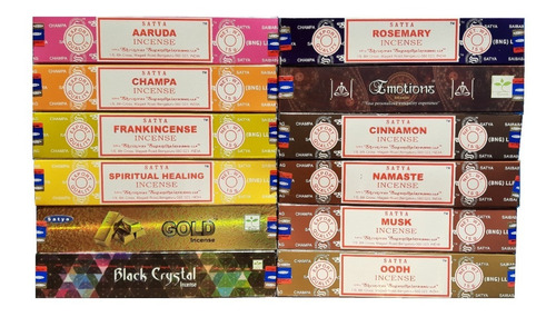 Imagem 1 de 1 de Incenso Massala Satya Box 12 Aromas Pré-selecionados