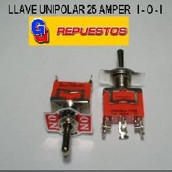 Llave Hh Unipolar. 25 Amper 1-0-1