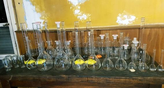 Antiguas Probetas/botellas Y Recipientes De Laboratorio