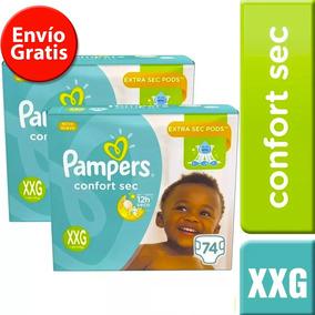 2 Paquetes De Pañales (148u.) Pampers Confort Sec Talla Xxg