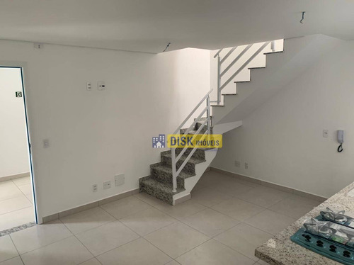 Imagem 1 de 18 de Cobertura Com 2 Dormitórios À Venda, 109 M² Por R$ 370.525,00 - Vila Pires - Santo André/sp - Co0085