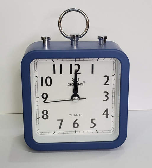 Reloj Despertador Cuadrado,análogo, Manecilla De Barrido.