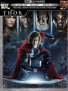 Thor Steelbook 4k + Blu-ray + Digital Code.