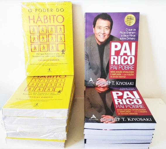 Kit Livro Pai Rico + Livro Poder Do Hábito