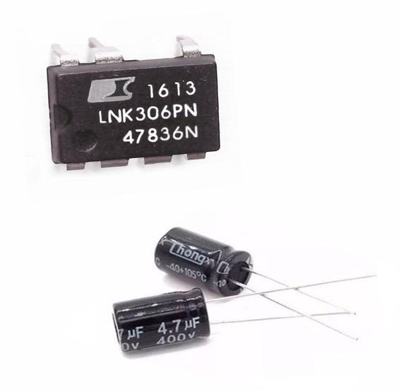20 Ci Lnk306pn + 40 Capacitor 400v 4,7uf Eletrolítico