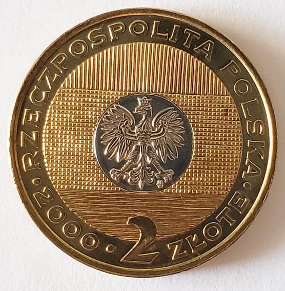 Polonia 2 Zlote 2000 Bimetal Fc - Comemorativa Milénio Rara