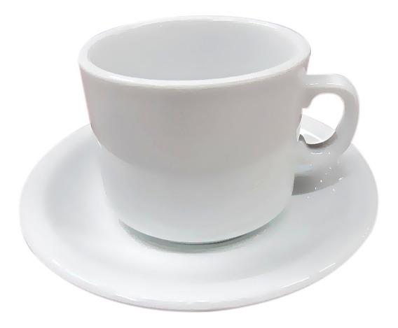 Taza De Cafe Pocillo Con Plato Porcelana Tsuji Línea 450