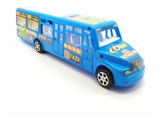 Camión Bus Plástico Grande Juguete Para Niños Econó