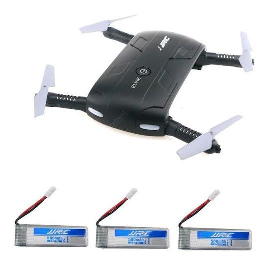 Drone Jjrc H37 Elfie Com Câmera (com 3 Três Baterias)