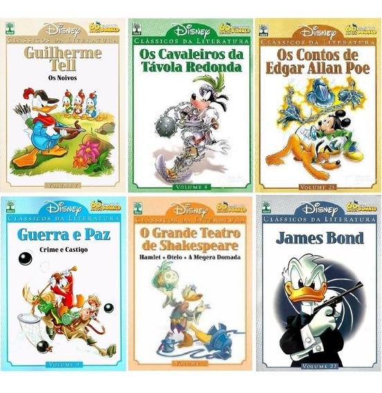 Kit 6 Vols Clássicos Literatura Disney: 3; 4; 7; 9; 22; 25