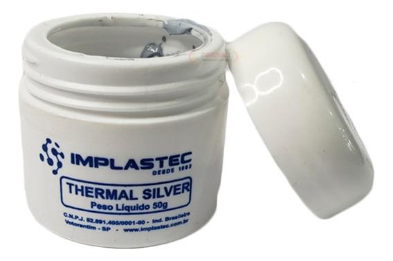 Pasta Térmica Prata Thermal Silver Implastec 50g