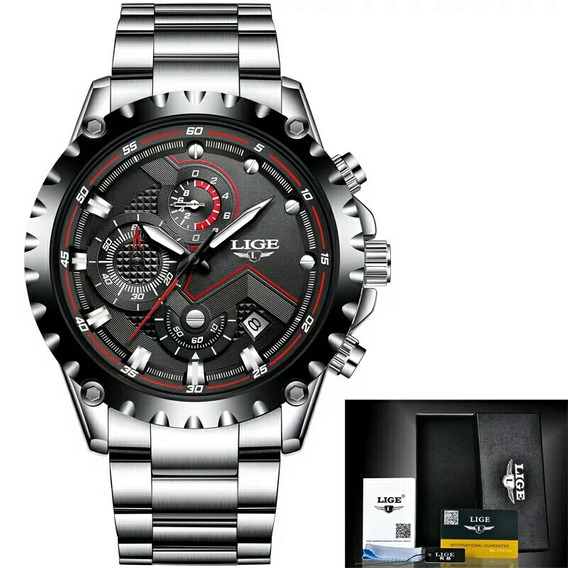 Relógio Lige Masculino 9821 Esportivo Todo Funcional Barato