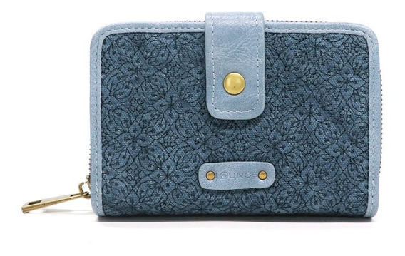 Billetera Bordado Azul Mujer Lounge