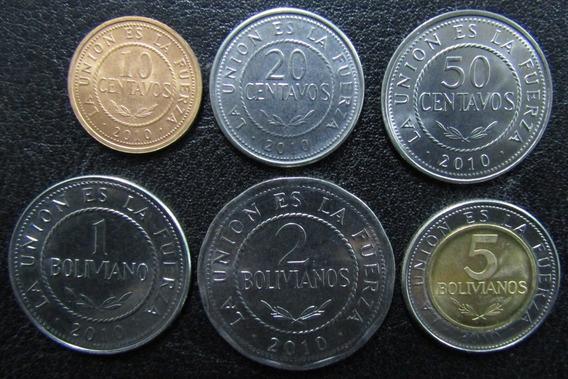Bolivia Set De 6 Monedas Año 2010 Unc Sin Circular
