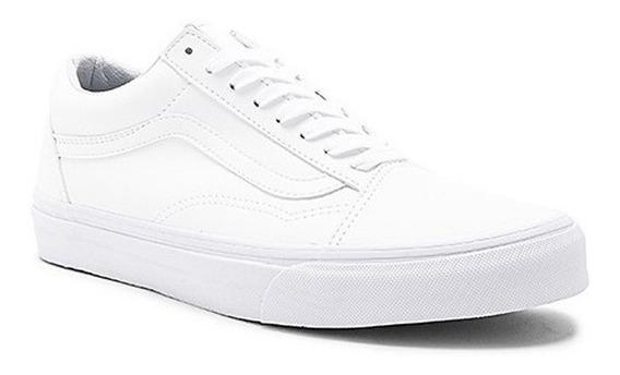 Tenis Vans Unisex Blanco Classic Tumbleold Skool Vn0a38g1odj
